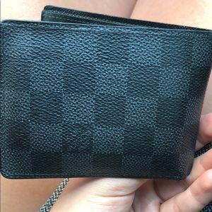 Men's Louis Vuitton black Damier wallet